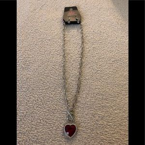 Paparazzi Check Your Heart Rate red necklace